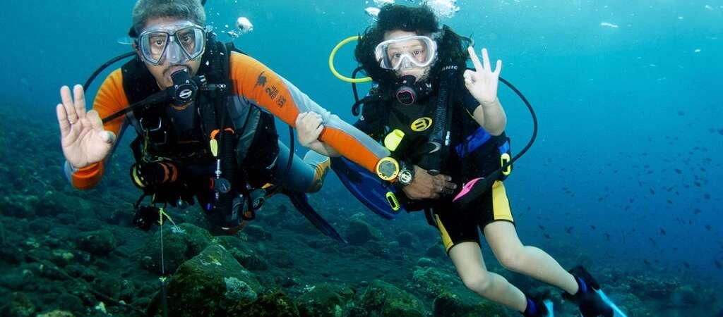 Curso de mergulho para crianças