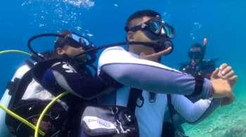 Curso de resgate de mergulho